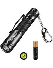 Kleine LED Taschenlampe Schlüsselanhänger Taschenlampe Wuben Taschenlampe Led IPX8 Wasserdichte Mini Taschenlampe Lampenfackel Power,AAA Batterie enthalten