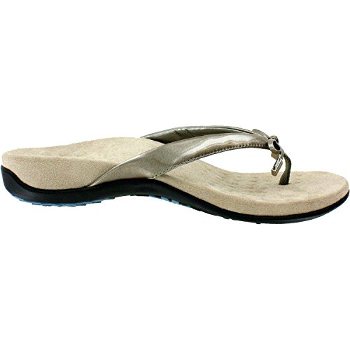 Vionic Womens Bella II Sandal Pewter Wide Size 7