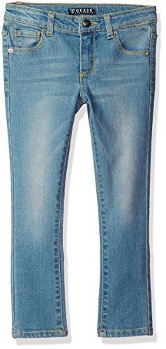 GUESS Girls' Little Skinny Power Stretch Denim 5 Pocket Jean, Selma Wash, -