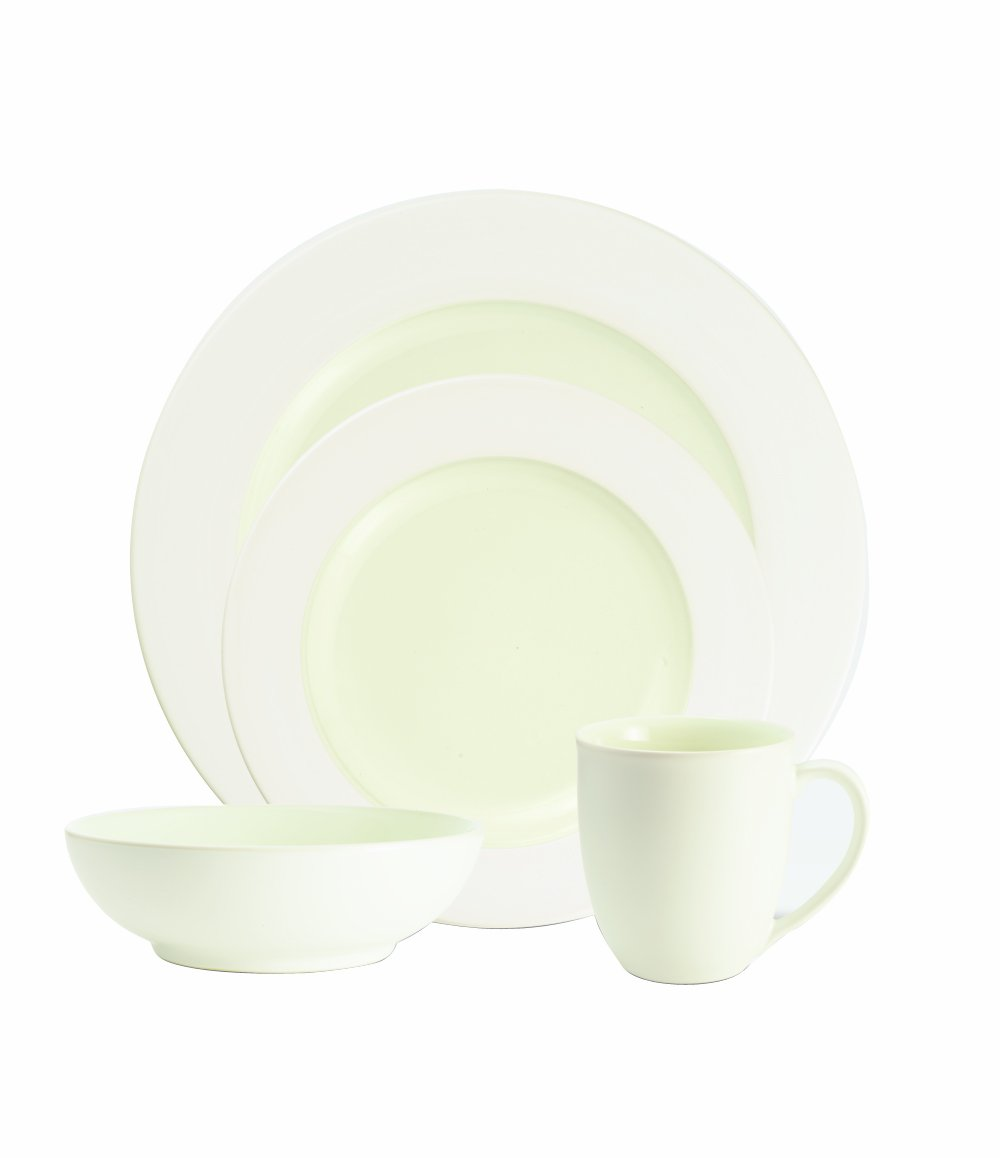 Noritake Colorwave White 4-Piece Rim Place Setting 8090 04X
