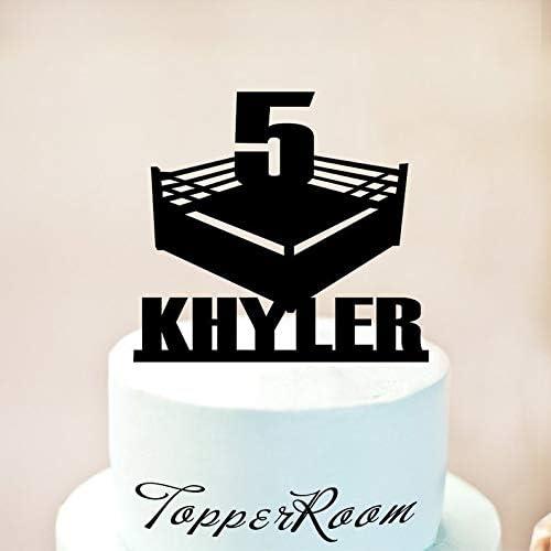 Awe Inspiring Wrestlers Cake Topper Boxing Cake Topper Wrestlers Party Boys Birthday Cards Printable Inklcafe Filternl