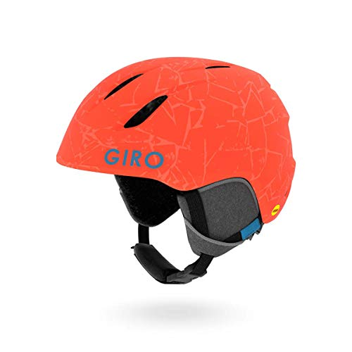 (Giro Launch MIPS Kids Snow Helmet Matte Vermillion Rock SM 52-55.5cm)