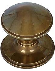 Voordeurknop Rond op Rozet Messing Antiek Brons - Ronde Voordeurknop - Voordeurknop Antiek - Deurgreep Antiek - Antiek Deurbeslag - Antieke Deurknop