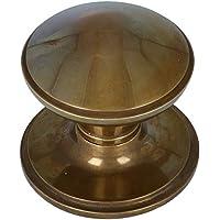 Voordeurknop Rond op Rozet Messing Antiek Brons - Ronde Voordeurknop - Voordeurknop Antiek - Deurgreep Antiek - Antiek…