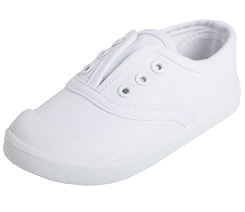 Price comparison product image Kikiz Candy Color Kids Toddler Canvas Sneaker Boys Girls Casual Shoes White