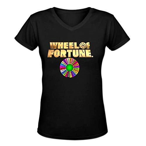 Maerxlinz Wheel of Fortune Comfortable Tee Women's Fashion Style V-Neck T-Shirt -