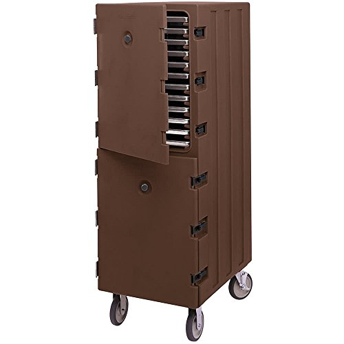 Sheet Pan Camcart - TableTop king 1826DTC131 Dark Brown Double Compartment Tray and Sheet Pan Camcart Carrier
