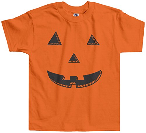 Threadrock Little Boys' Halloween Pumpkin Face Toddler T-Shirt