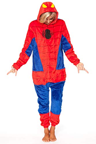 Be Wicked C1811 Women's Spiderman Onesie (S)]()