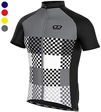 Didoo Jersey Ciclismo para Hombres, Ciclismo Manga Corta Top, Media Manga Mountain Bike/MTB, Camisa Verano Racing Jersey, Ligero Transpirable Ajustado ...