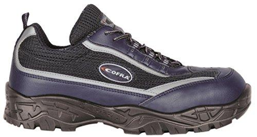 Cofra Zapatos De Seguridad Zapatos De Trabajo De la hendidura S1P SRC calidad profesional - azul, poliéster, 42 EU, Azul