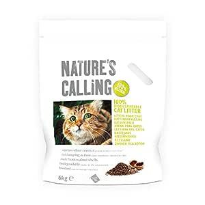 Natur's Calling Cat kullväska 1 x (2 x 6 kg), klumpande, biologiskt nedbrytbar, paket med 2