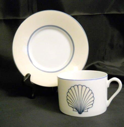 - Set of 4 Fitz & Floyd Nobilis Cup & Saucer Sets Ocean Shell Theme