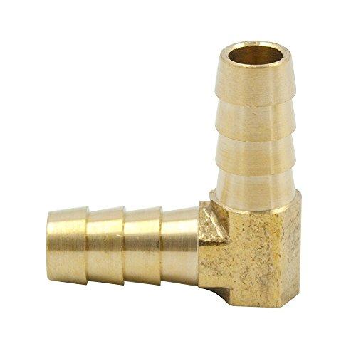 90 Degree Rigid Elbow - Legines Brass Hose Barb Fitting, 90 Degree Elbow, 5/16