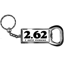 Graphics and More Ring Bottle-Cap Opener Key Chain, 2.62 I Hate Running - Anti Marathon Lazy Funny Running Runner (KK0727)