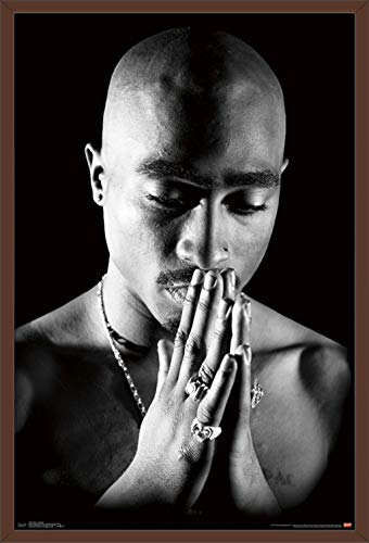 Queen Mahogany Poster - Trends International Tupac - Praying Wall Poster, 24.25