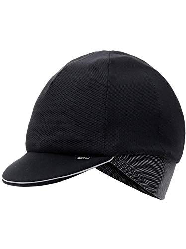 Santini Black 2018 Fashion Passo Winter Cycling Cap (Default, Black) ()