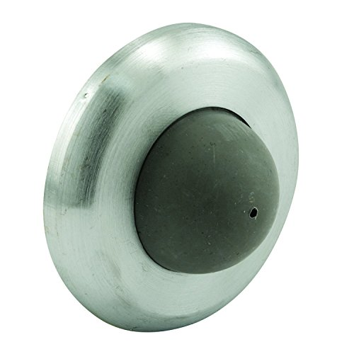 Convex Wall Mount (Prime-Line Products MP4649 Wall  Stop, 2-1/2 in. Outside Diameter, Stainless Steel, Brushed Finish, Wall Mount, Convex Rubber Bumper, Pack of 5)