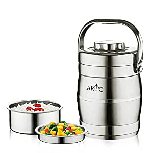 ARTC Portable 3 Layer Stainless Steel Lunch Box Food Container 5Ltr