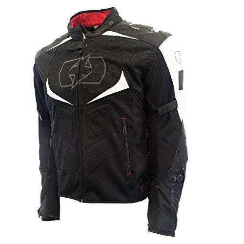 - Oxford Melbourne Air 2.0 Men's Black/White Mesh/Textile Jacket - X-Large