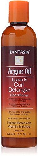 Fantasia Argan Oil Leave-In Curl Detangler Conditioner, 8 oz Pack of 4