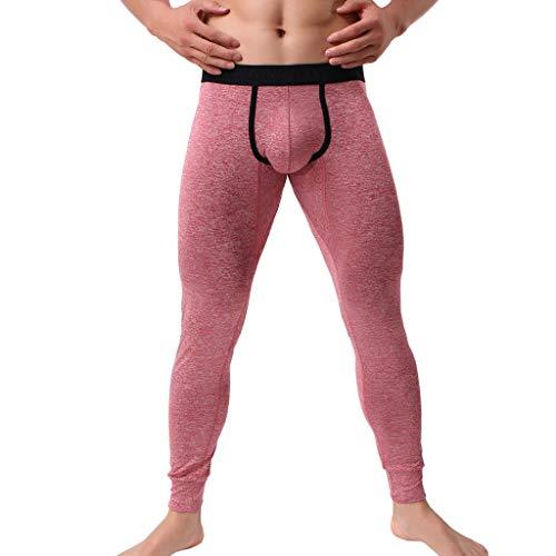 Beautyfine Men's Leggings Pants Autumn Winter Comfortable Thermal Warm Fitting Bottompants Trousers -