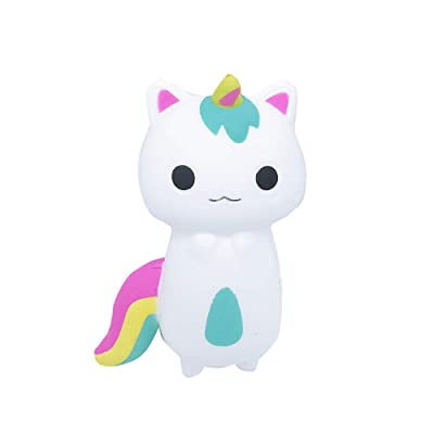 HTDBKDBK Jumbo Cream Scented Squishies Rainbow Fox Scented Charm Slow Rising Squeeze Stress Reliever Toy Christmas Birthday Gift: Toys & Games