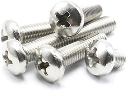 Grade A2-70 Stainless Steel Phillips Drive Pan Head M2.5-0.45 X 25MM Metric 10-Pack Prime-Line 9130897 Machine Screws
