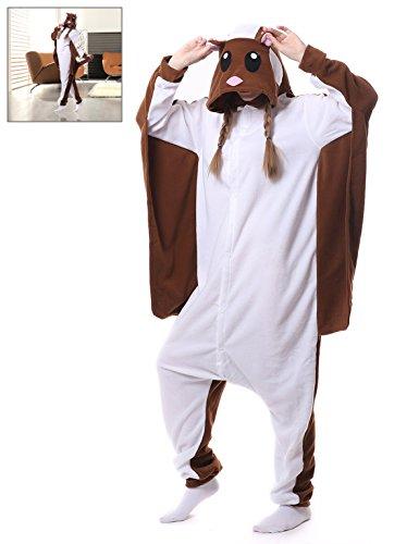 Flying Squirrel Onesies Adult Animal Cosplay Pajamas Kigurum Halloween Costume