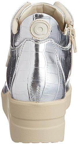 Donna Agile Fashion Sneakers Argento By Sintetica Pelle Rucoline ZZqISrwO