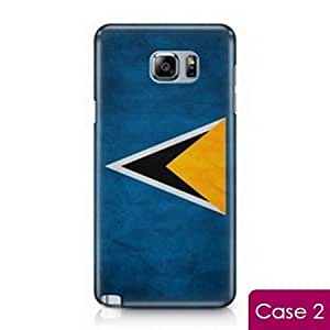 Saint Lucia Vintage Country Flag Snap On Protection Hard Phone Skin Case for Samsung Galaxy Note 5 SM-920V SM-N920A N920T SM-920R4 SM-N920I