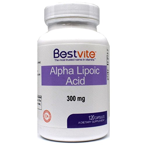 Alpha Lipoic Acid 300mg (120 Capsules) No Stearate – No Flow Agents
