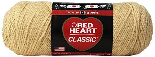 RED HEART E267.0334 Classic Yarn, Tangerine (Meter Yarn)