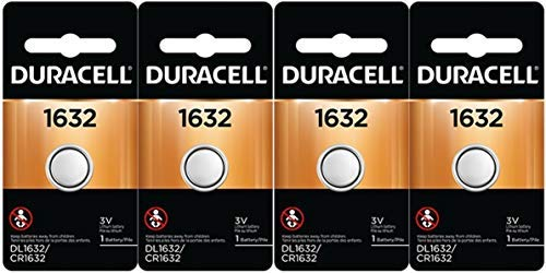 4 Pcs Fresh Duracell Lithium Battery ECR1632 CR1632 DL 1632 3V Batteries ()