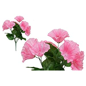 Tableclothsfactory 168 pcs Artificial Petunia Flowers for Wedding Decor - 12 Bushes - Pink 91