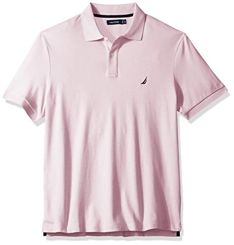 Nautica Men's Classic Fit Short Sleeve Solid Soft Cotton Polo Shirt, Cradle Pink, ()