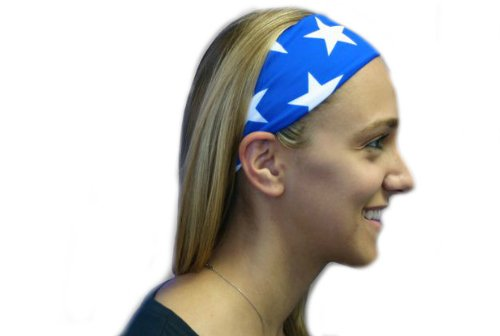 SVF Headbands (Blue with White Stars, One Size )