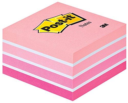 Post-it 2028P Haftnotiz Würfel, 70 g/qm, 76 x 76 mm, pastellpink, 450 Blatt - in weiteren Farben verfügbar