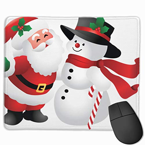 Snowman Clipart - Smooth Mouse Pad Cute Christmas Clipart Snowman Mobile Gaming Mousepad Work Mouse Pad Office Pad