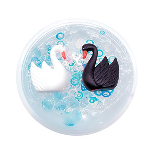 Yanvan Slime Clay Toy, Slow Rising Squishy Toy, Black Swan Puff Mud Mixing Cloud Slime Putty Scented Stress Kids Clay Toy