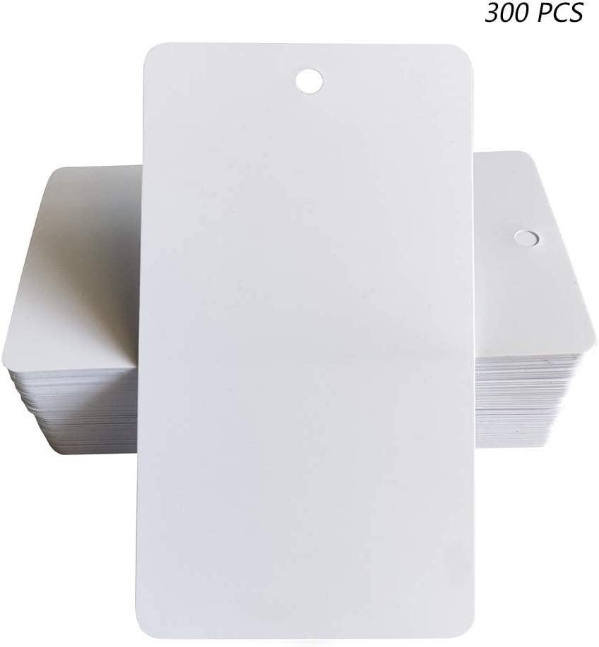 per Cartellini dei Prezzi Ziyero Mini Etichette in Carta con Foro Etichette Rettangolari in Carta Kraft Durevole Bianco Album Protezione Ambientale Decorazioni Regalo ECC/— 300 Pezzi DIY