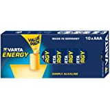 Varta 10x AAA 4103 Alkaline 1.5V non-rechargeable battery - non-rechargeable batteries (Alkaline, Cylindrical, 1.5 V, AAA, Blue, 44.5 mm)