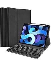 حافظة لوحة مفاتيح ProCase لجهاز iPad Air 4 الجديد 11 بوصة 2020، غطاء ذكي خفيف الوزن مع لوحة مفاتيح لاسلكية قابلة للفصل مغناطيسيًا [تدعم قلم رصاص 2 الشحن] - أسود