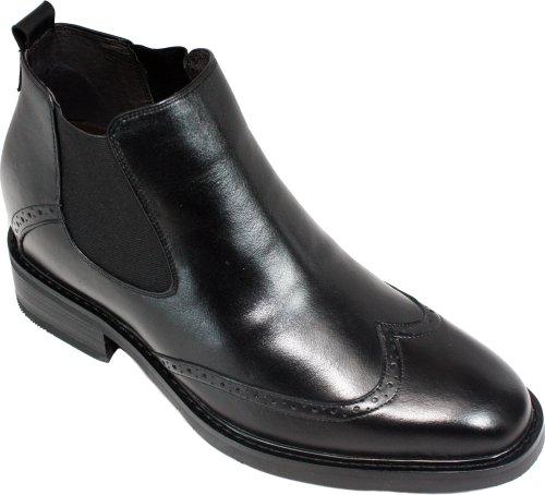 K-CALDEN 28802-(3 7,62 cm, altezza Inches)-Tappetto aumentare ascensore Shoes-Stivaletti alla caviglia da uomo, con ali