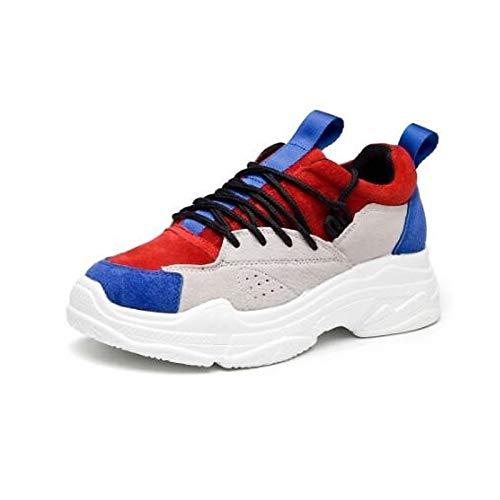 Zapatos Sneakers de Punta ZHZNVX con Spring White Nappa Negra Heel Leather Cerrado Suede Blanca Comfort Flat Summer Mujer Ad6xnz6q5R