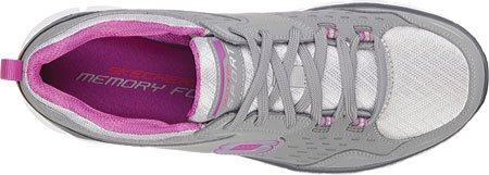 Skechers Sport Women's Synergy A Lister Fashion Sneaker B017Y02MYA 7 B(M) US|Gray/Purple