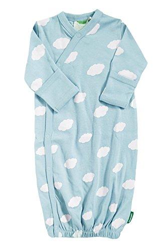 Parade Organics Organic Baby Printed Kimono Gown (Newborn/0-3 Months, Cloud Blue)
