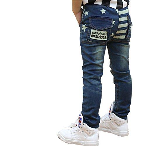 LaLaMa Little Boys' Stars Slim Jeans Pants Trousers 4-5Y