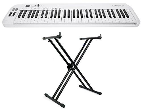 Samson Carbon 61 Key USB MIDI DJ Keyboard Controller + Software + Stand