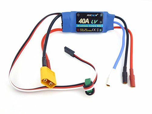 40A RC Brushless Motor Electric Speed Controller ESC 3A SBEC with XT60 & 3.5mm bullet plugs